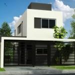 Plano de casa económica de 83 m2