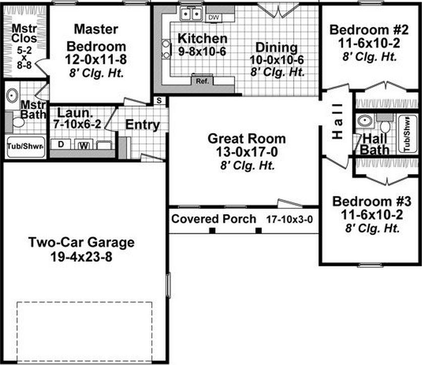 Plano de casa con contrafachada