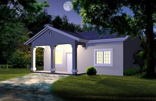 Plano de casa de 90 m2 y un dormitorio