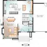 Plano de casa de dos pisos con garage lateral