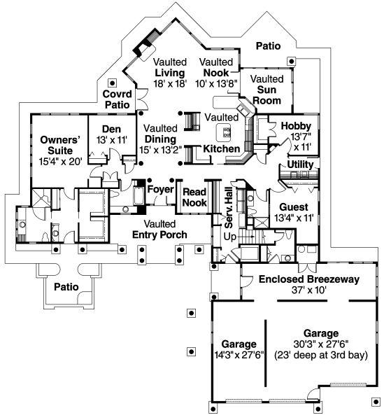 Plano de casa de forma irregular