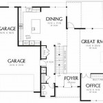 Plano de casa moderna de 3 dormitorios en dos pisos