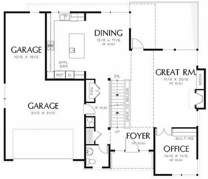 Plano de casa moderna de 3 dormitorios en dos pisos for Planos de casas de 3 pisos