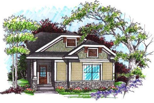 Contra fachada de casa para terreno angosto