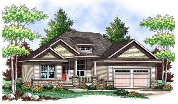 Plano de casa cl sica de 3 dormitorios en una planta for Fachadas de chalets de una planta