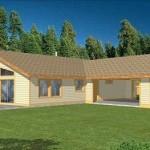 Plano de casa de 3 dormitorios, 2 baños y cochera