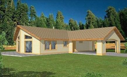 Fachada de casa de 3 dormitorios, 2 baños y cochera