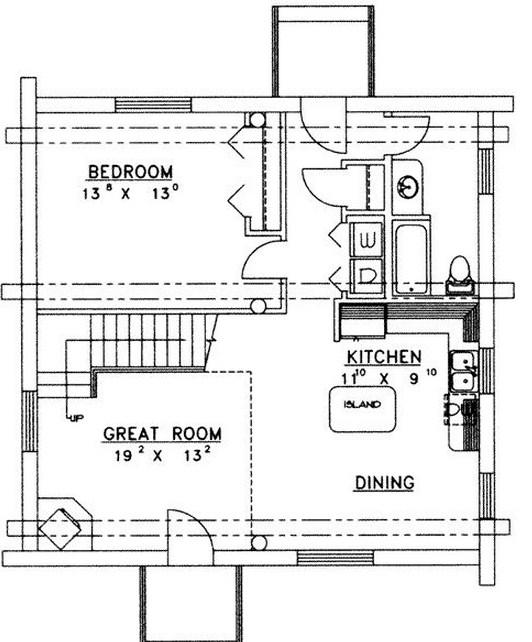 Plano de caba a de madera de 2 pisos - Planos de cabanas de madera ...