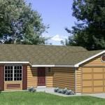 Plano de casa con garage enfrente