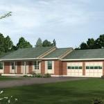 Plano de casa de una planta y 190 m2