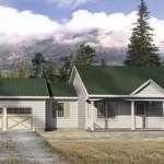 Plano de casa de estilo campestre
