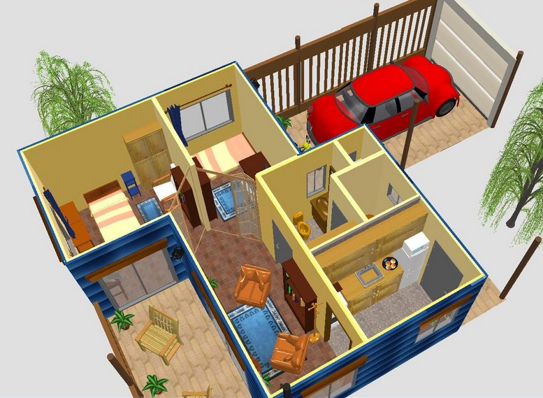 planos de casas pequenas con cochera