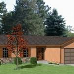 Plano de rancho de 3 habitaciones