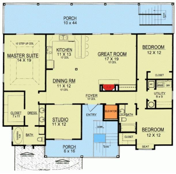 Planos de casas sobre pilotes