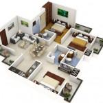 Departamento moderno de 3 dormitorios y 3 baños