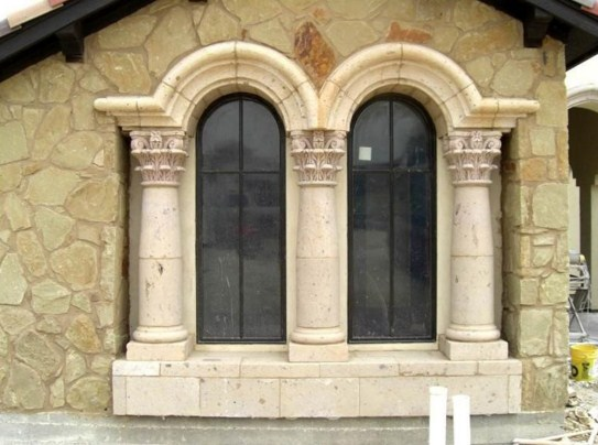 Molduras de cantera para ventanas de casas
