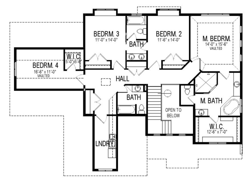 Plano de casa bonita de dos pisos