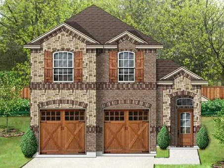Plano de casa rustica con fachada