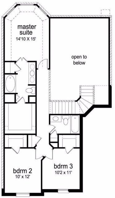 Plano de casa rustica de dos pisos