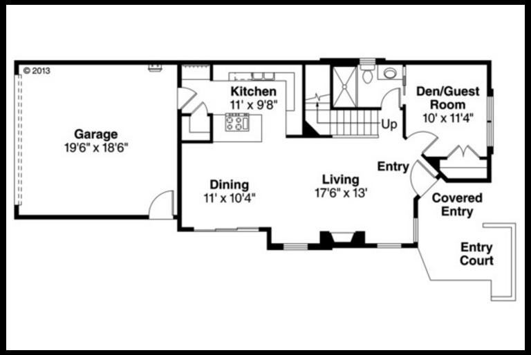 Plano de vivienda de 2 pisos y 4 dormitorios