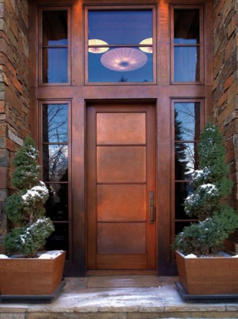 Puertas de aluminio fachada modernas 2015 for Puertas de metal con vidrio modernas