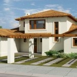 Plano de casa de 2 pisos y 5 dormitorios