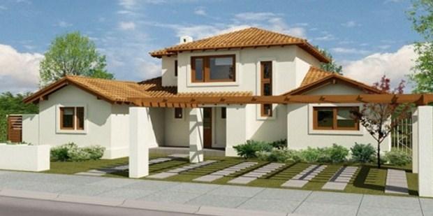 5 dormitorios planos de casas for Planos de casas de 2 pisos