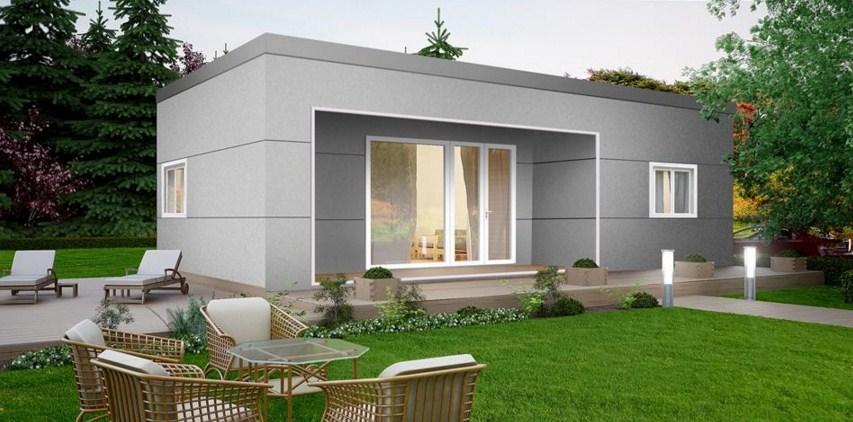 Plano de casa de 6 x 10 m