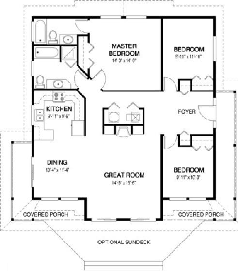 plano de casa de un nivel