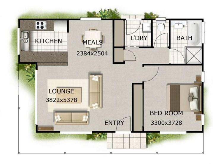 Planos de casas 1 habitaciones for Disenos y planos de casas prefabricadas
