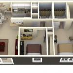 Plano de casa rectangular