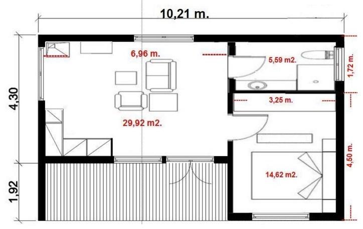 planos de casas de dos pisos de 6 x 10 mts