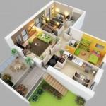 Plano de casas tres dormitorios