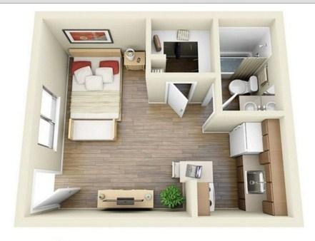 Plano de vivienda de 40 m2