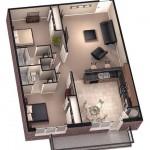 Plano de vivienda de 40m2
