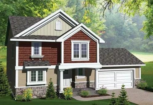 Plano de vivienda de tres dormitorios