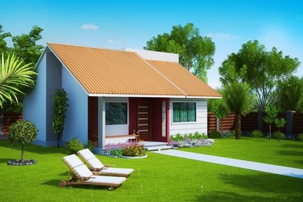 Plano de vivienda pequeña con medidas