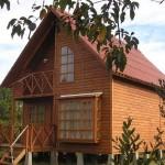 Plano de casa de madera de 4 dormitorios