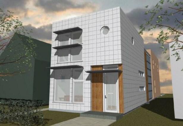 Plano de casa de 5 x 20 en 2 pisos