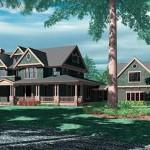 Plano de casa de 5 dormitorios