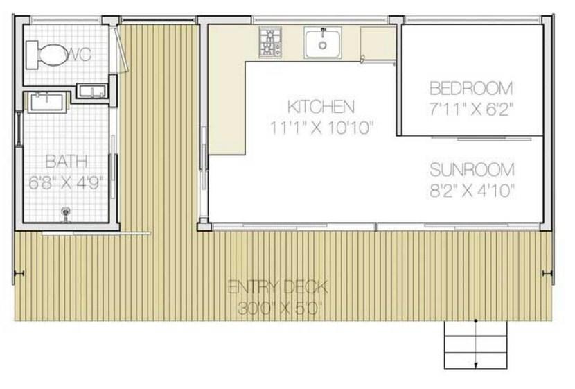 Plano de casas con containedor