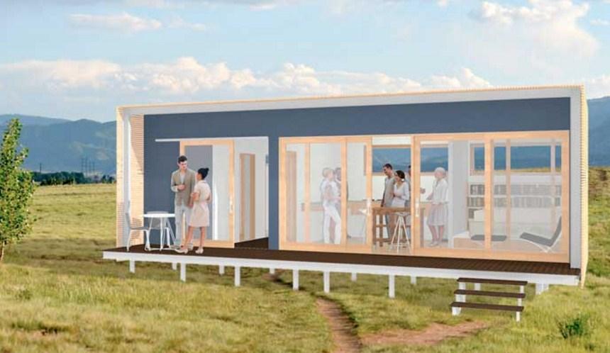 Plano de casas con container