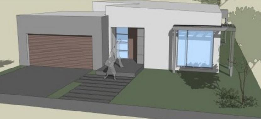 casa sencilla de 4 dormitorios