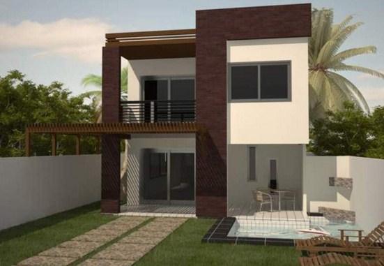 Casa de 2 pisos con medidas en metros