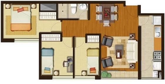 Departamento for Diseno de apartamento de 60m2