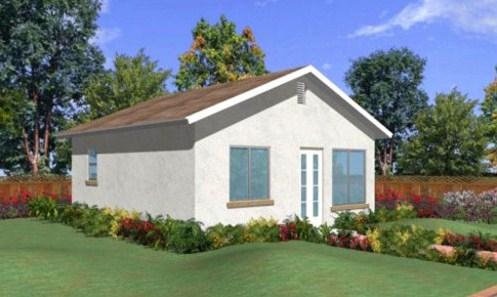 Modelo de casa de 6 x 6 m