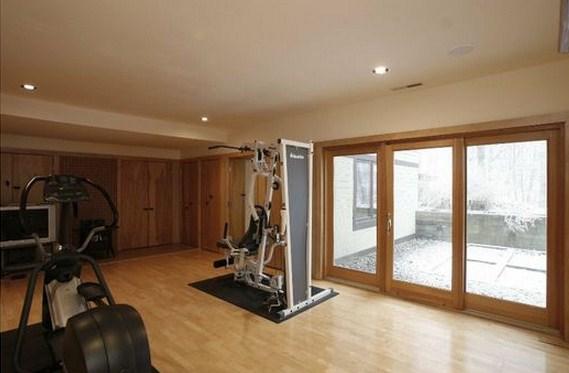 Plano de casa con gimnasio
