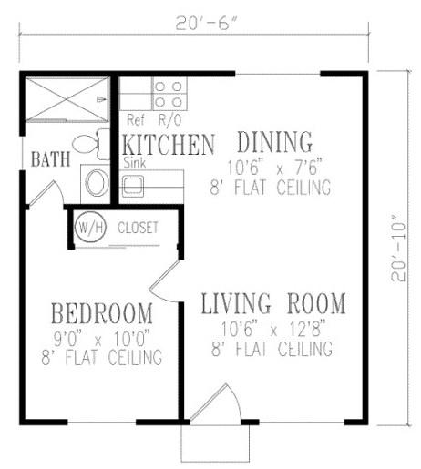 Plano de casa de 6 x 6 m