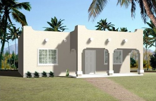 Plano de casa de estilo mexicano