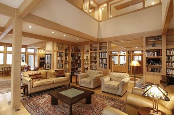 Plano de casa grande sala de estar
